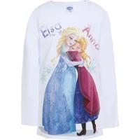 Disney Frozen Uzun Kol Kız Çocuk T-Shirt Beyaz (8-12 Yaş)