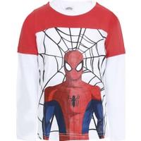 Soobe Spider-Man Uzun Kol Erkek Çocuk T-Shirt Beyaz (2-8 Yaş)