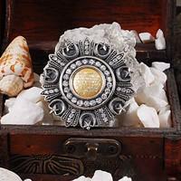 Zevahir Gümüş Ayetel Kürsi Dualı Osmanlı Nişanı 925 Ayar Gümüş Broş