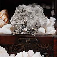 Zevahir Gümüş Elmas Modeli 925 Ayar Gümüş Kuş Yuvası Broş