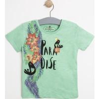 Soobe Pop Boys Erkek Bebek Karga Kısa Kol T-Shirt Elma Yeşili (0-2 Yaş)