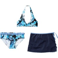 Bpc Bonprix Collection Kız Çocuk Mavi Üç Parçalı Bikini Seti
