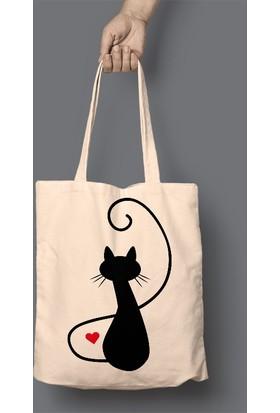 Juno Yalnız Kedi Bez Çanta