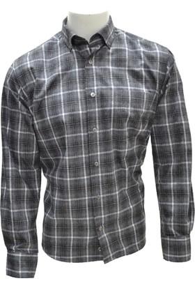 Megaldi Erkek Gömlek Kışlık Flanel Ekose 30236