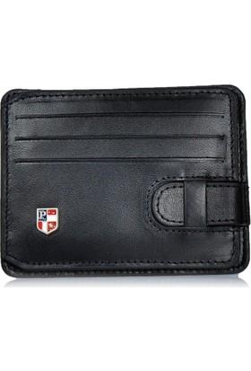 U.S. Polo Assn. Hakiki Deri Kredi Kartlık Cüzdan Siyah 0006