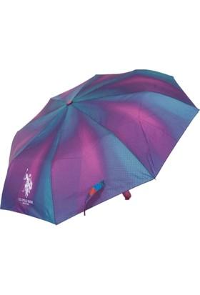 U.S. Polo Assn Bayan Şemsiye Otomatik Mekanizma Renkli 6604