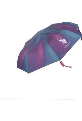 U.S. Polo Assn Bayan Şemsiye Otomatik Mekanizma Renkli 6607