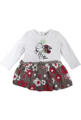 Soobe Flowers Uzun Kol Kız Bebek Elbise (1-3 Yaş)
