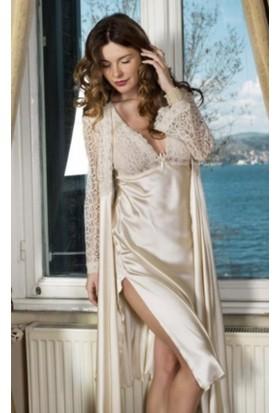 Pierre Cardin 7450 6 Lı Gelin Set Gecelik Sabahlık Pijama Tk Sort