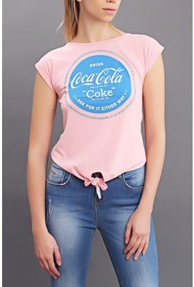 Tiffany&Tomato A3162 Baskılı Coca Cola T-Shirt Kısa Kol