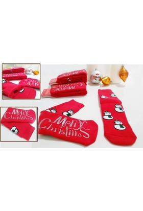 Moyra Pamuklu Havlu Bayan Mutlu Yıllar Çorabı