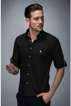 Philip Loren Siyah Logolu Spor Gömlek (BSW03LG001)