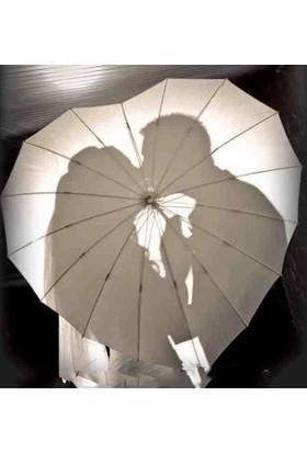 Kayıkçı Beyaz Kalp Şeklinde Şemsiye White Heart Umbrella