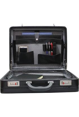 obtech James Bond Model Tek Körük Kaliteli Deri Evrak Ofis Laptop Çantası