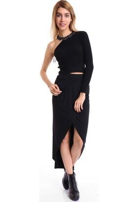 BSL Fashion Siyah Etek 9056