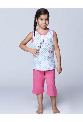 RolyPoly Atlet Kapri Kız Çocuk Pijama Takımı Fuşya