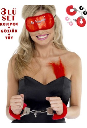 Kiviva Fantazi Set Kelepçe + Gözlük + Tüy 8003