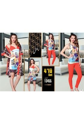 Lady 4'lü Pijama Takımı Set L13455
