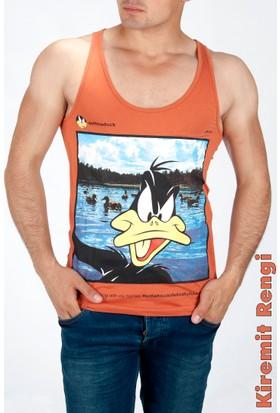 Deepsea Kiremit Rengi Duff Duck Baskılı Erkek Atlet 1609140-038