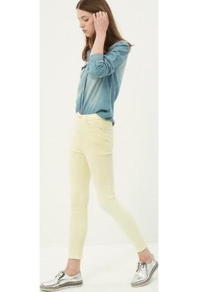 Koton Jeans Kadın Skinny Pantolon Sarı
