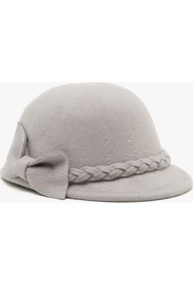 Koton Kids Kız Çocuk Fİyonk Detaylı Şapka Gri