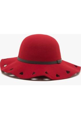 Koton Kids Kız Çocuk Lazer Kesim Şapka Bordo