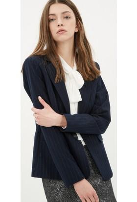 Koton Kadın Cep Detaylı Ceket Lacivert