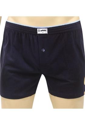 Elif Çamaşır Yıldız 3'Lü Paket %100 Pamuk Düğmeli Erkek Boxer Lacivert
