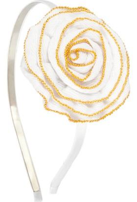Elia Accessories Beyaz Taç