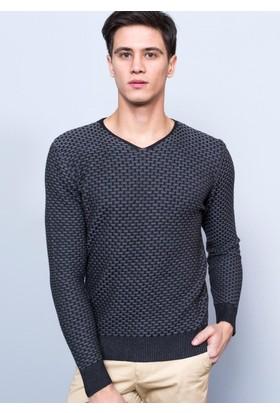 Adze Erkek Siyah-Gri Kazak