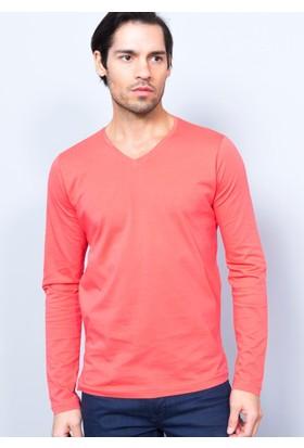 Adze Erkek V Yaka Uzun Kol Sweatshirt