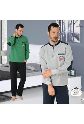 Mecit Erkek Pijama Takım M-2202 - Yeşil