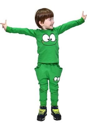 Ertuğ Anne & Bebek Gfm Kids Sevimli Gülen Gözler Yeşil Çocuk Takımı