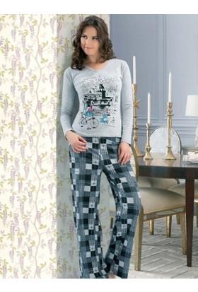 Derya Kurşun 779 Damalı Pijama Takımı