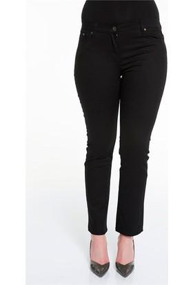 Rmg Kadın Büyük Beden Pamuk Pantolon Siyah