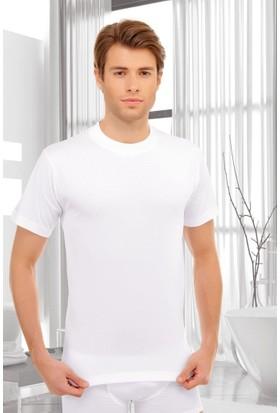 Elif Çamaşır Seher Sıfır Yaka Erkek Fanila Beyaz