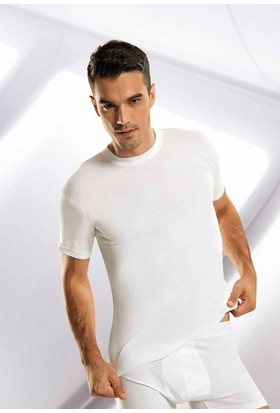 Elif Çamaşır Gümüş 6'lı Paket Sıfır Yaka Erkek Fanila Beyaz