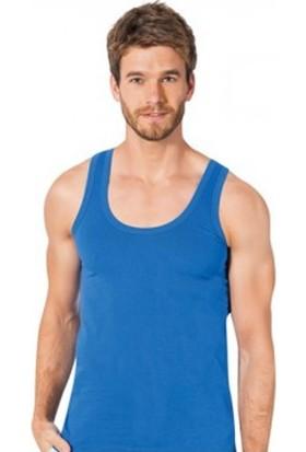 Elif Çamaşır Seher 12'li Paket Klasik Erkek Atlet Saks