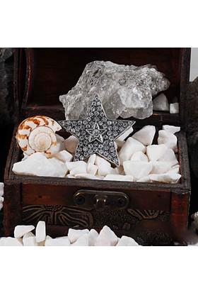 Zevahir Gümüş Elmas Modeli Yıldız Broş 925 Ayar Gümüş