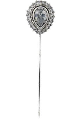 Zevahir Gümüş Damla Model 925 Ayar Gümüş Eşarp İğnesi