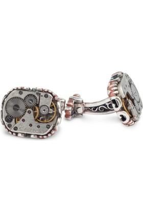 Anı Yüzük Saat Mekanizmalı Kol Düğmesi