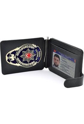 Anı Yüzük Özel Güvenlik Görevlisi Rozetli Para Tokalı Kartlık Cüzdan