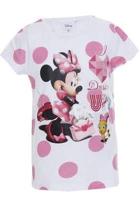 Disney Minnie Mouse Kısa Kol T-Shirt Beyaz (9 Ay- 7 Yaş)