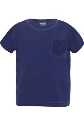 Soobe Pop Boys Erkek Çocuk Cep Detaylı Kısa Kol T-Shirt Lacivert (3-12 Yaş)