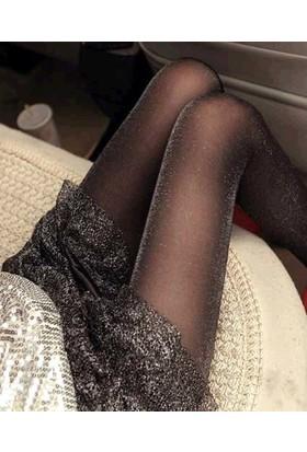 Daymod Tamamı Simli Külotlu Çorap