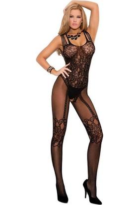 Lady Lingerie Desenli Vücut Çorab