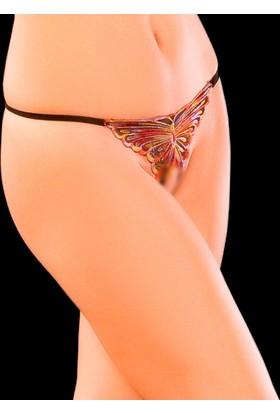 La Blinque Erotik İçgiyim Ağ Kısmı Acık Kelebekli Külot