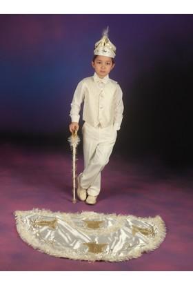 Glory Tekstil Sünnet Kıyafeti Çınar Model Krem Rengi-Lame
