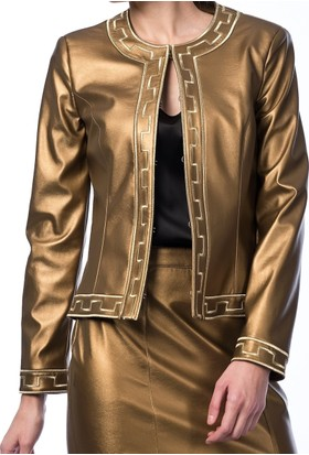 Roman Bayan Gold Ceket