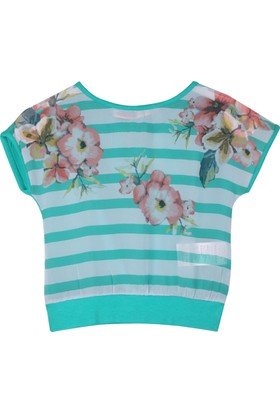 Badi Junior Kız Çizgili Tişört
